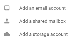 tap add an email account