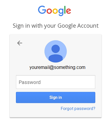 enter password and tap sign in