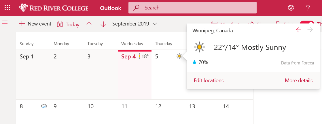 weather icon details