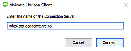 connection server field