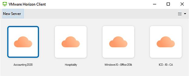 virtual desktop connection window
