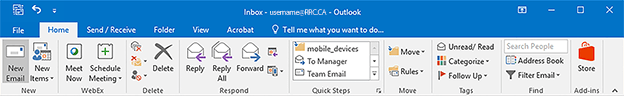 outlook new email button