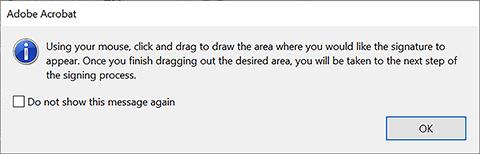 Adobe Acrobat window instructions