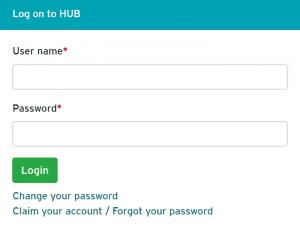 click change your password