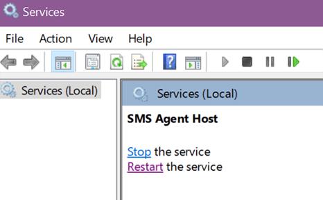 click restart the service