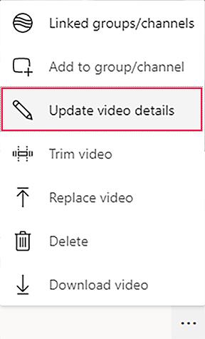 ms stream – update video details link