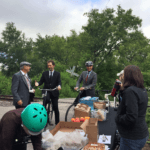 Mayor Bowman and Anders Swanson dropped by our Pit Stop on their Plain Bicycles.