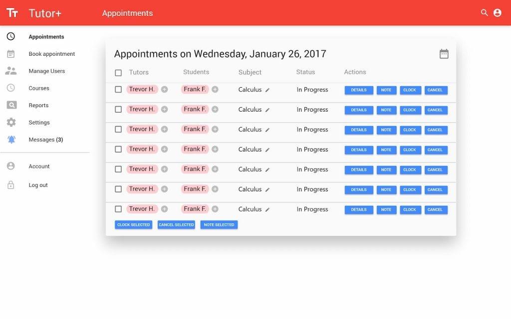 Screenshot of Due North's Admin Dashboard
