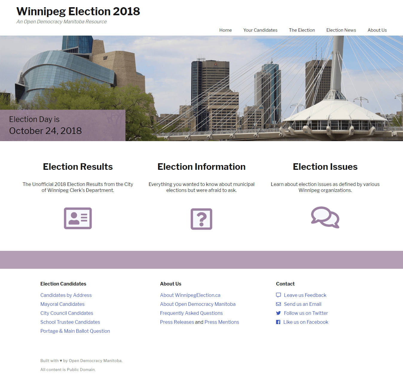 Winnipeg Election - Home Page