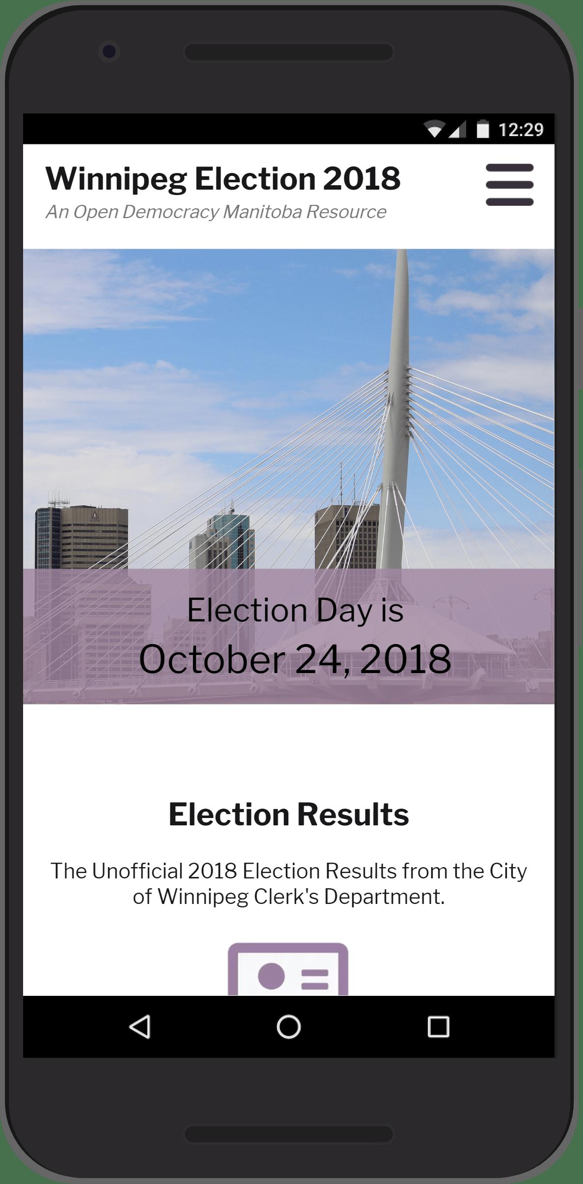 Winnipeg Election - Home Page Mobile