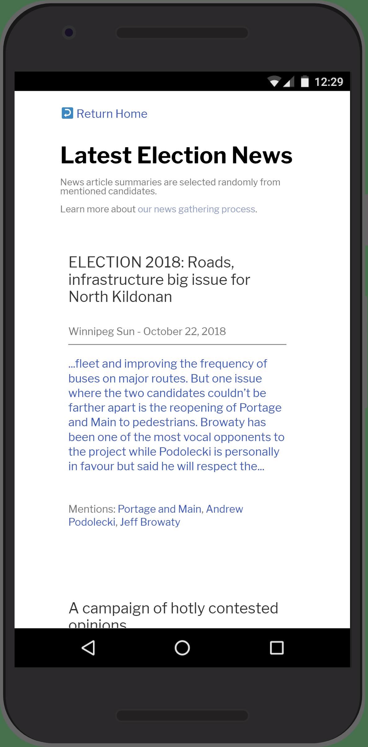 Winnipeg Election - Latest News