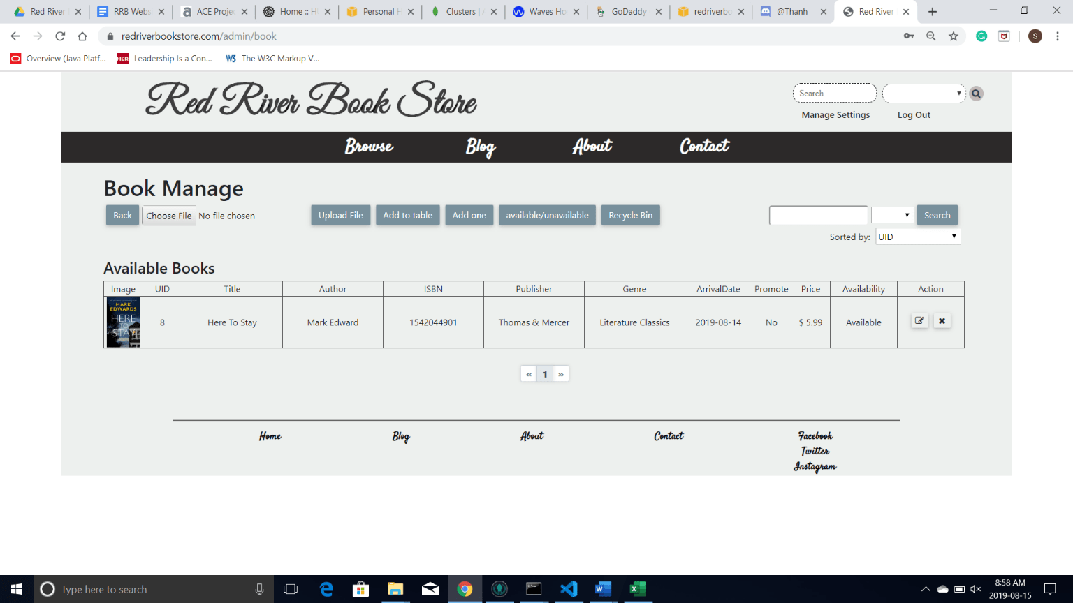 Book Manage page