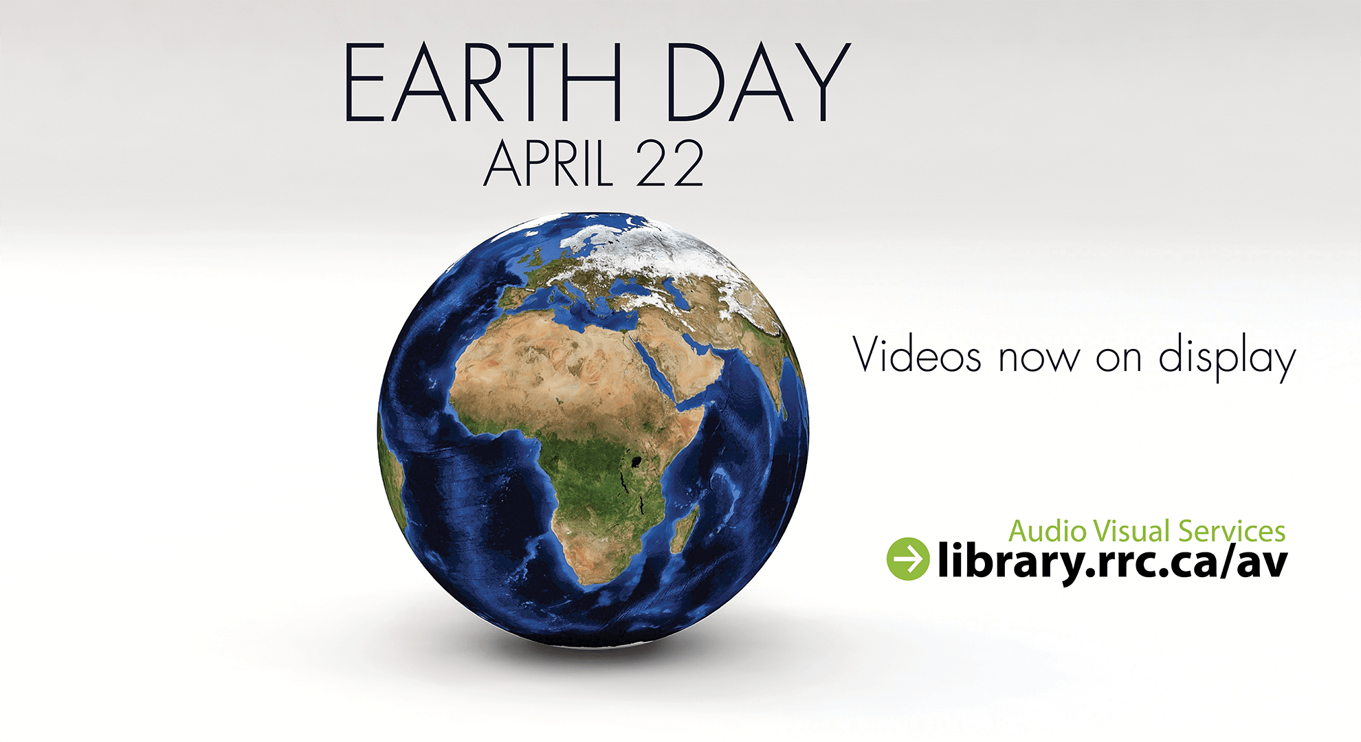 Earth day AV display ad