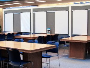 Portable, sliding whiteboards