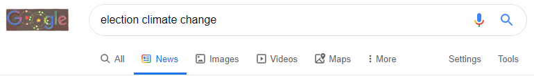 Google News tab screen capture