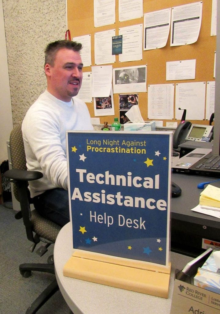 Adrian Johnson at the LNAP Technical Assistance Help Desk