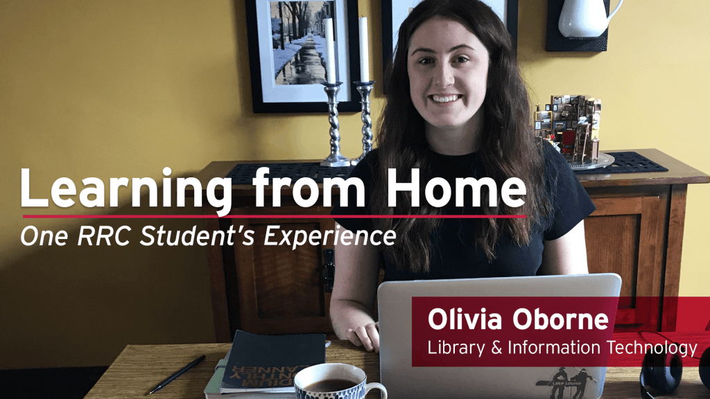 Picture of Library student, Olivia Oborne, working from home