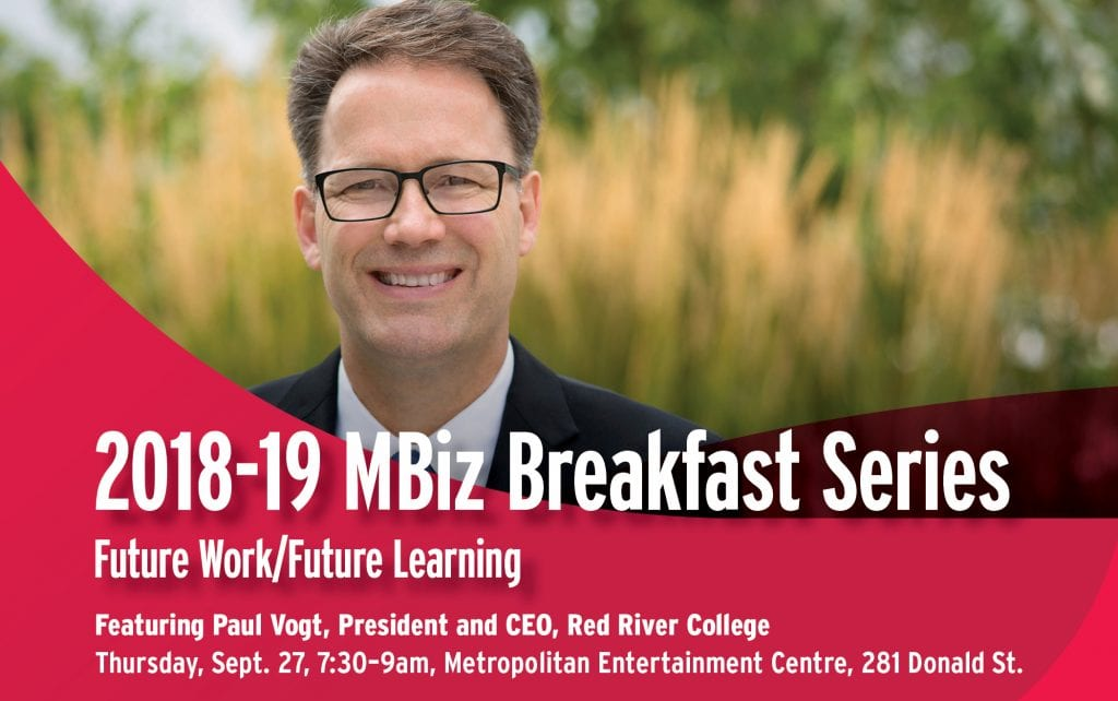 MBiz Breakfast Series with Paul Vogt — Thursday, Sept. 27