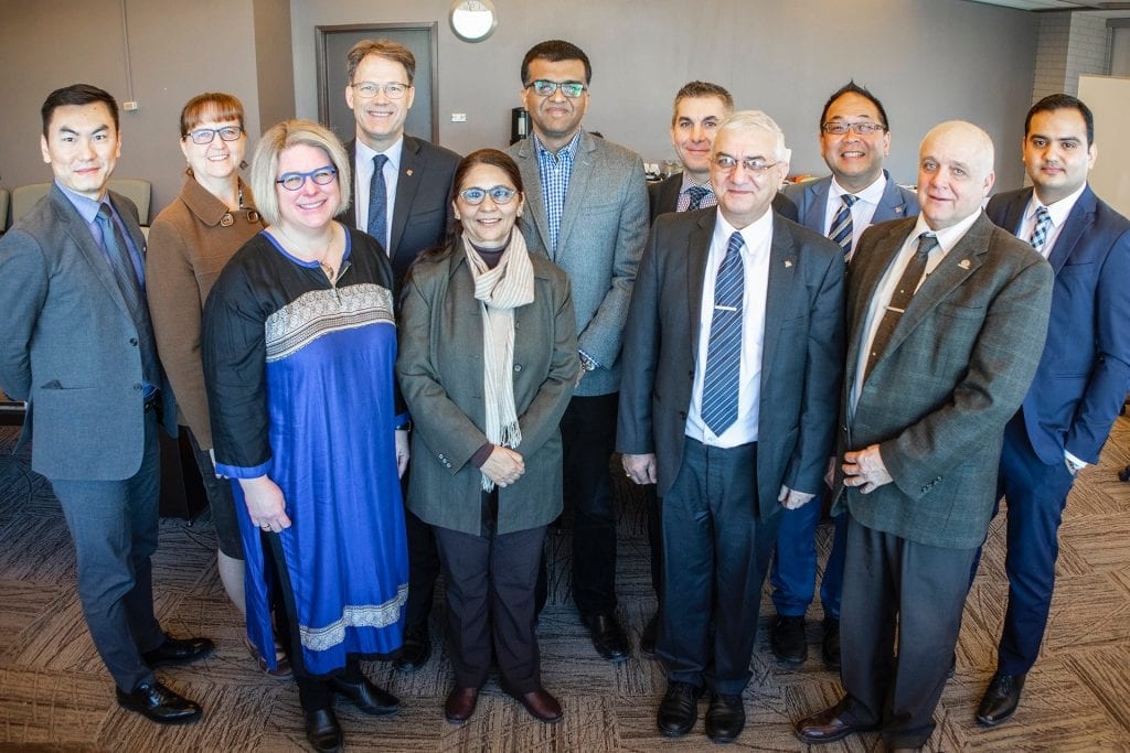 Executives from Red River College and Chitkara University