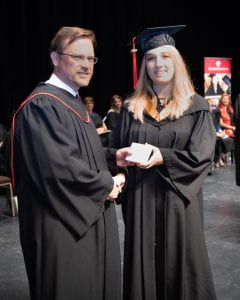 Allison Enns, Spring Convocation
