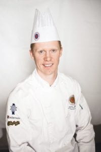 Junior sous chef Darnell Banman