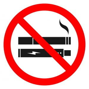 No smoking/no vaping symbol