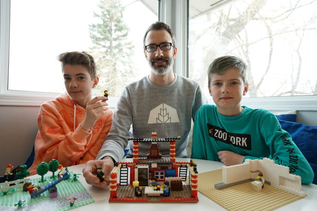Tyler Walsh and sons, with Lego