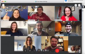 Screenshot of Creative Communication video group chat
