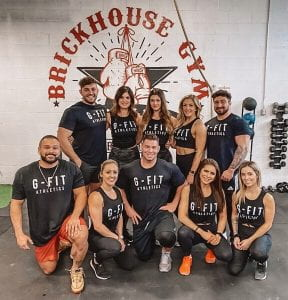 Group shot of G-Fit workout team