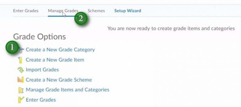 Gradebook Setup Wizard final screen of options