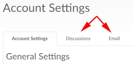 Discussion and Email account settings in LEARN