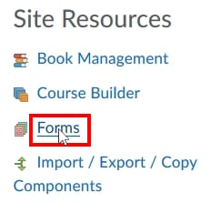 "; Click on ""Forms"""