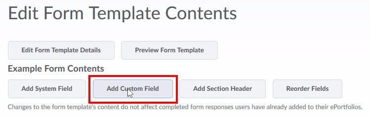 """;Click """"Add Custom Field"""""""