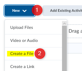 New then Create a File