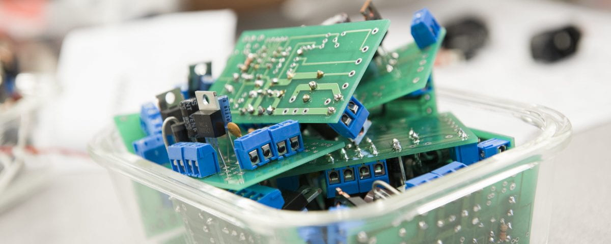 A close up of engineering technology equipment