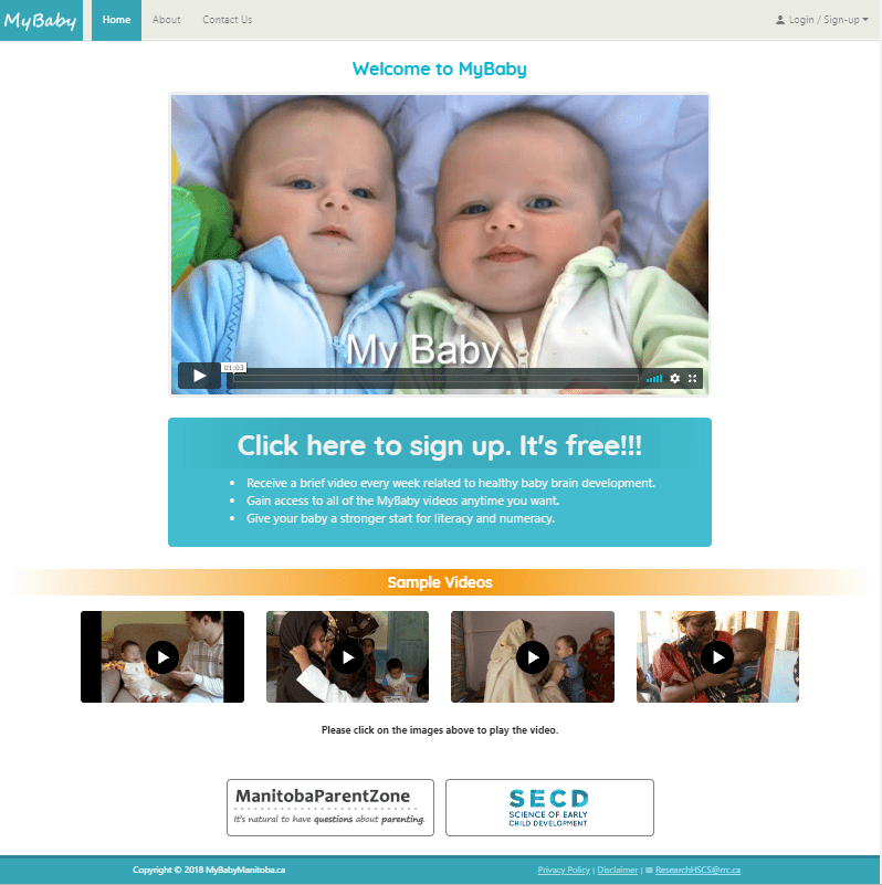 MyBaby - Home Page