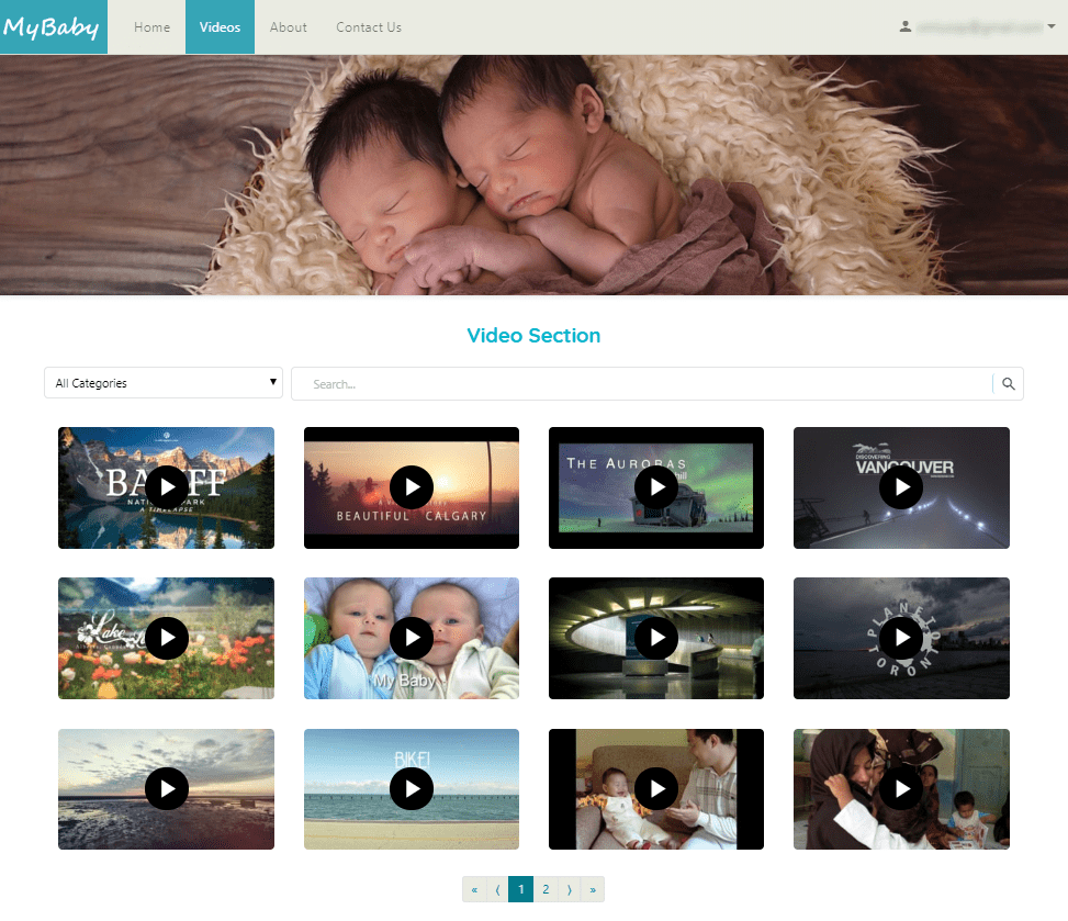 MyBaby - Video Library (Subscriber View)
