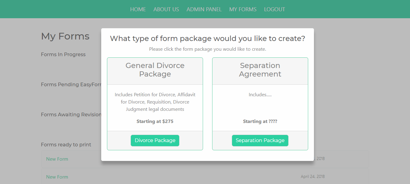 Easy Forms site