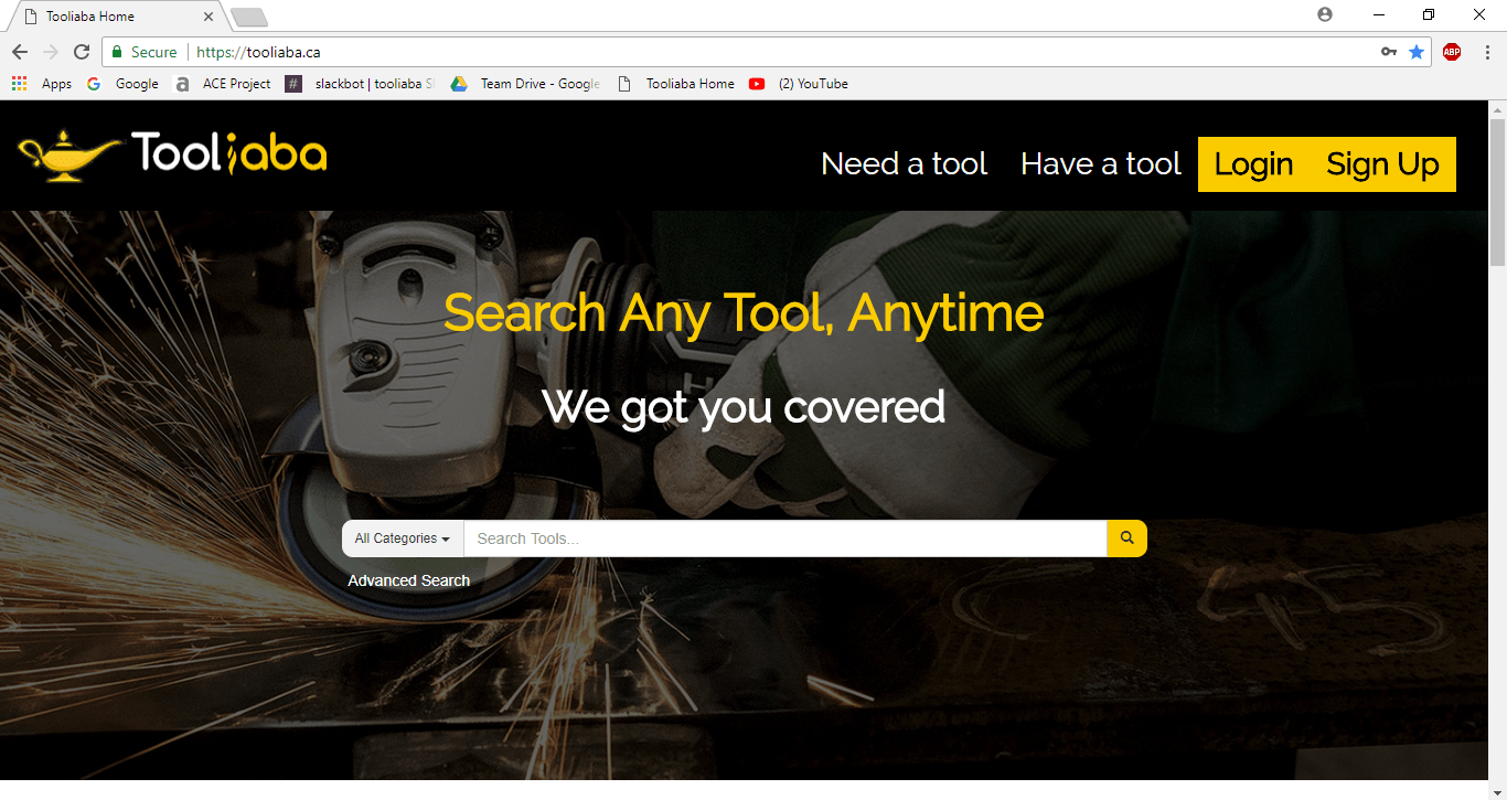 Tooliaba site Home Page