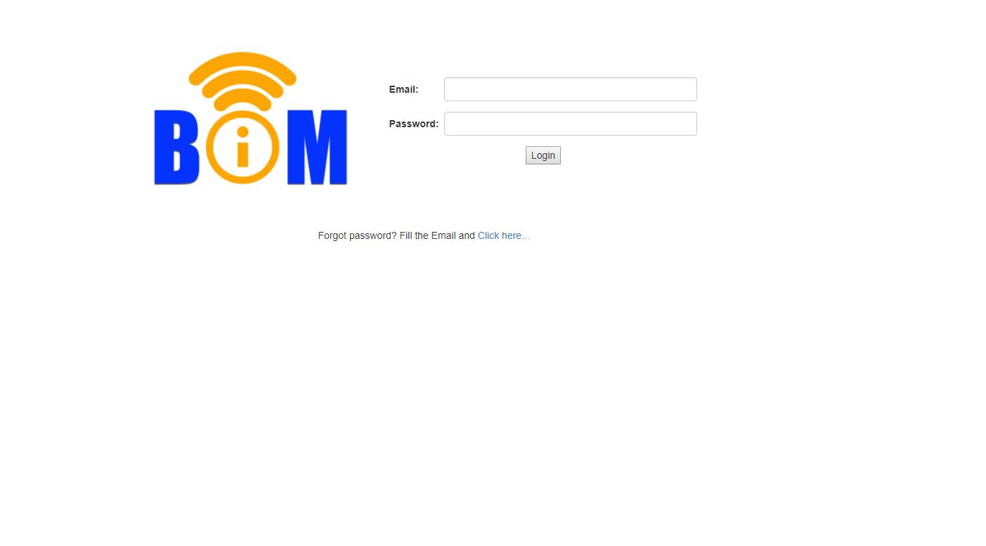BIM Site Login Page