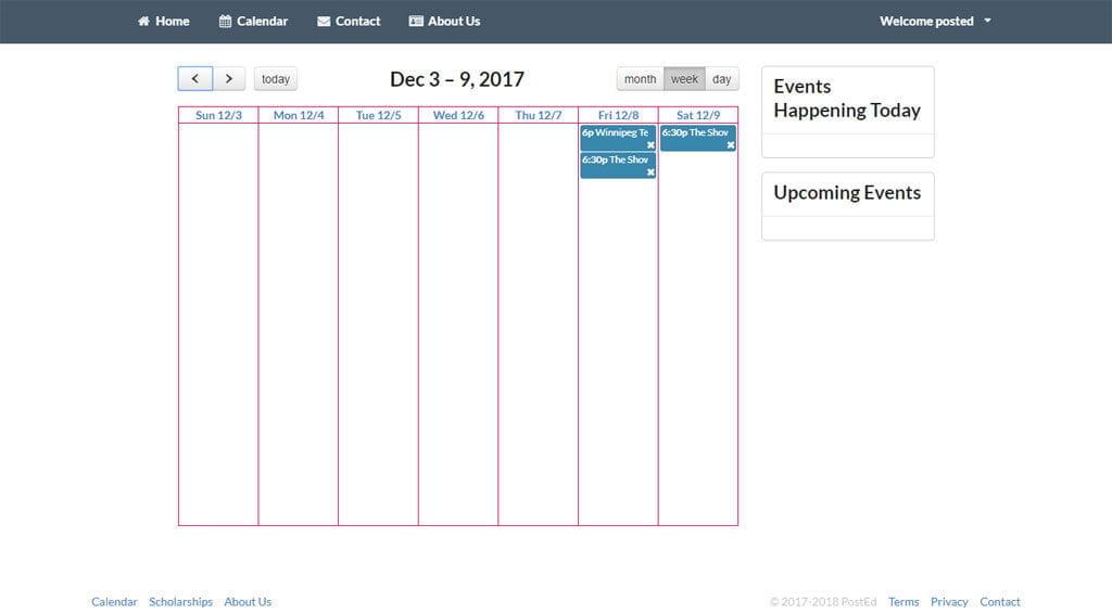 Calendar - Weekly