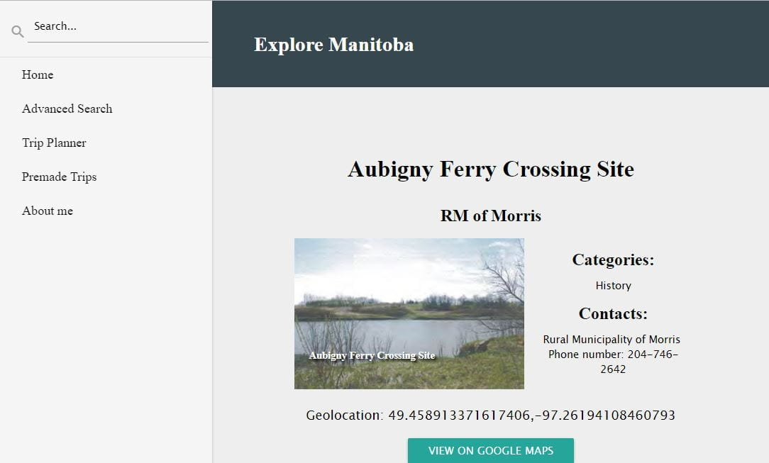 Eclectic - Explore Manitoba's Home Page on Desktop