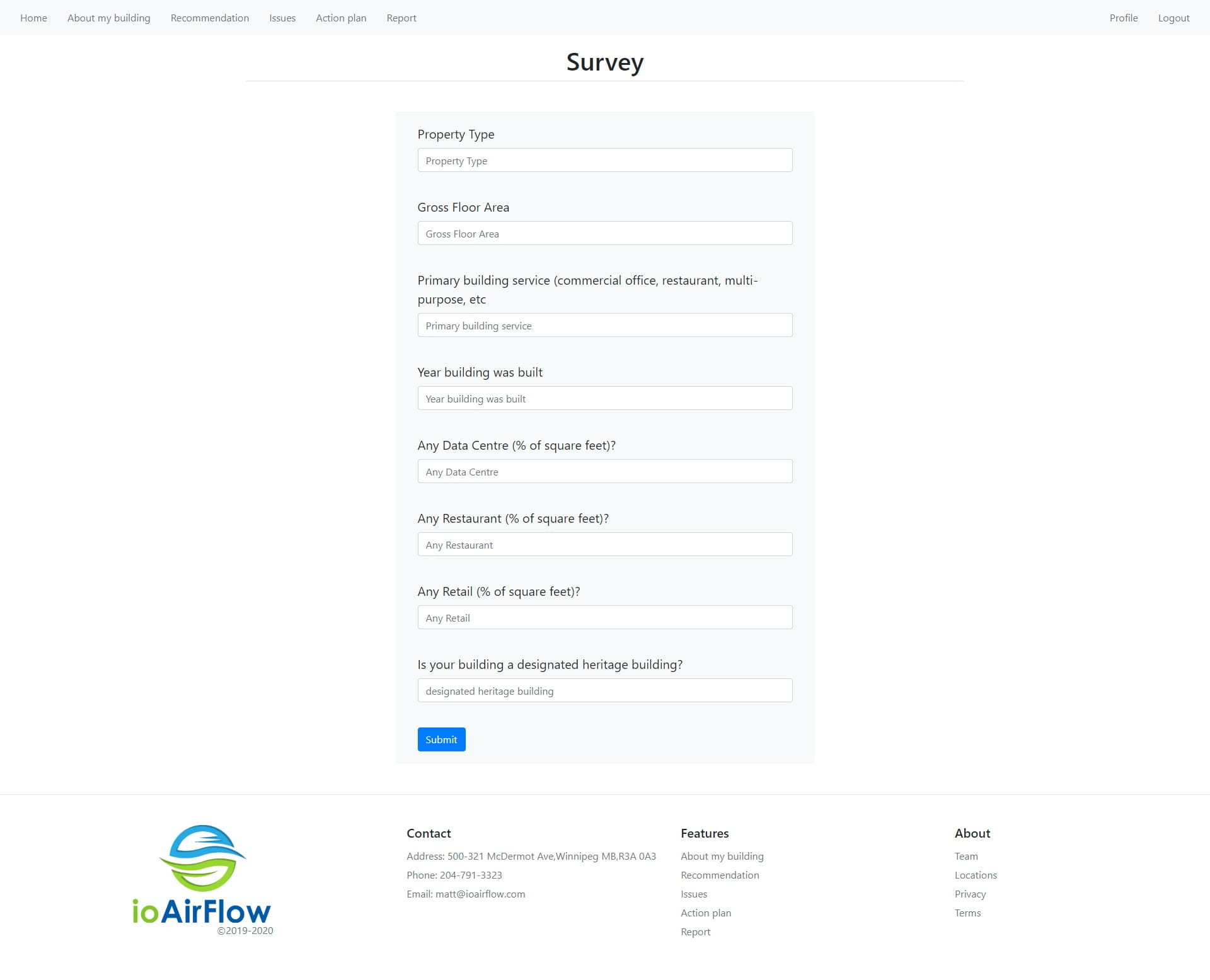 Survey Page