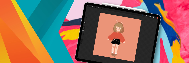 Digital art project on a tablet